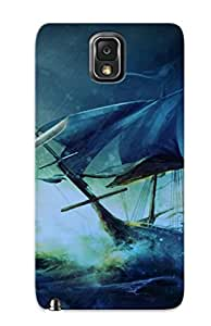 Crazinesswith Anti-scratch And Shatterproof Edward Thatch Assassin Creed Iv Black Flag Phone Case For Galaxy Note 3/ High Quality Tpu Case