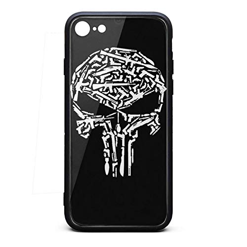 Punisher-Art-Skull-Gun- Phone Case for iPhone 6/6S Full Body Protection TPU Rubber Shockproof Anti-Scratch Fashionable Glossy Anti Slip Thin Case