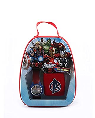 Marvel Avengers Assemble Team Boy's LCD Digital Watch & Wristband Gift set from Marvel