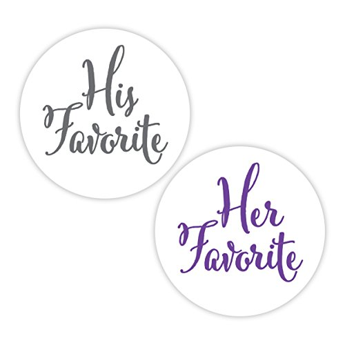 His Favorite & Her Favorite Wedding Stickers, Choose Your Colors, Wedding Favor Stickers (#376-SGPL)