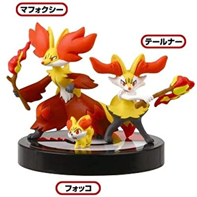 Takara Tomy 1/40 Scale Pokemon Zukan Figures Collection 3D Encyclopedia Pokemon XY 02 - Fennekin : Braixen : Delphox: Toys & Games