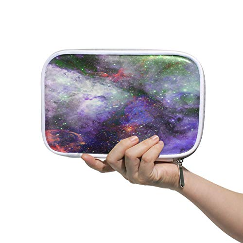 Nebula And Stars In Deep Space Mysterious Universe Large Pencil Case Multifunction Leather Makeup Brush Set Bag Organizer Zip Bags