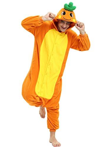 Carrot Onesie Costume for Adults and Teenagers, Halloween Animal Kigurumi (Carrot Adult Costumes)