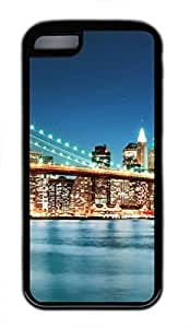 Brian114 iPhone 5C Case - City New York 24 Soft Rubber Black iPhone 5C Cover, iPhone 5C Cases, Cute iPhone 5c Case