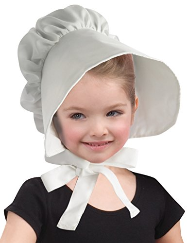 Forum Novelties Child Colonial Bonnet Hat, White (Colonial Day Costumes)