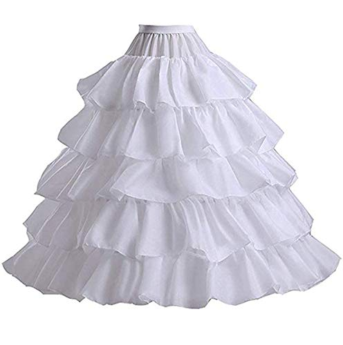 Ieuan Full White Ball Gown 4 Hoops Wedding Accessories Petticoat Underskirt Slips Quinceanera Gown for Wedding Dress from Ieuan