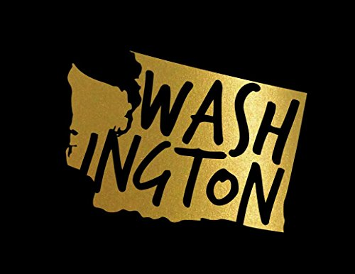 ND448G State Of Washington Decal Sticker | 5.5-Inches By 4.1-Inches | Premium Quality Gold Vinyl - Puget Computer