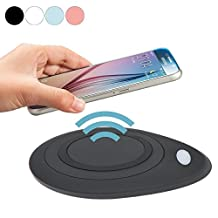 Geekercity Universal Qi Wireless Charger Charging Pad Station Mat for Samsung Galaxy S6 Active S7 S6 Edge / Plus Note5 LG Google Nexus 4 5 6 7 LG DIL Nokia Lumia HTC Sony Motorola (Black)