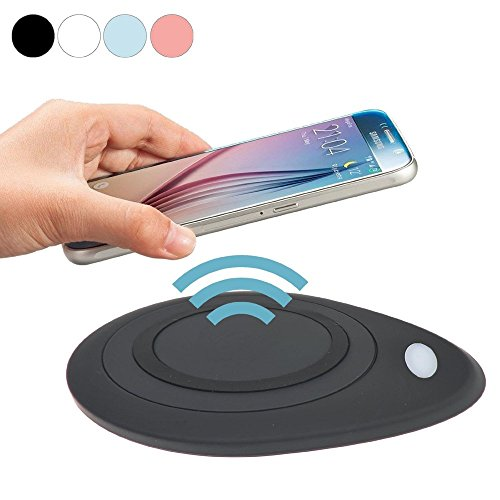 Geekercity Universal Qi Wireless Charger Charging Pad Station Mat for Samsung Galaxy S6 Active S7 S6 Edge / Plus Note5 LG Google Nexus 4 5 6 7 LG DIL Nokia Lumia HTC Sony Motorola (Black) (Charger Bluetooth)