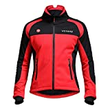 Beydodo Long Sleeve Cycling for Men Riding Suit Winter Red Outdoor and Running, Racing Sport Sweatshirt Size XXXL