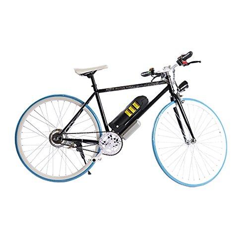 ELECTRIC Fixie Bike 350W 33MPH Alien Motor Wheels TM (BLACK/BLUE/WHITE/BLACK)
