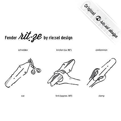triatl/ón El guardabarros Riesel Design fixie MTB rueda trasera de bicicletas bicicletas de carrera carretera protecci/ón antisalpicaduras para el sill/ín