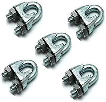Galvanised Wire Rope Grips Bolts Bulldog Grip/… 50 x 12mm