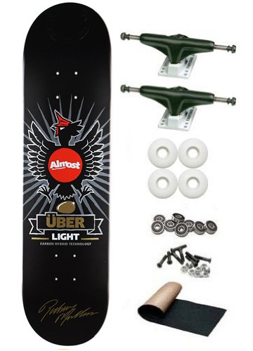 Amazon almost rodney mullen silver chicken uber light 80 almost rodney mullen silver chicken uber light 80 skateboard deck complete tensor magnesium light hollow axle aloadofball Gallery