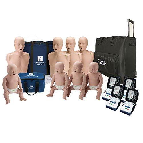 CPR Adult Manikin 4-Pack w. Feedback, Infant Manikin 4-Pack w. Feedback, AED UltraTrainers, Wheeled Carryall, MCR Accessories