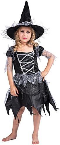 EraSpooky Disfraz de Bruja Bruja niño de Halloween con Sombrero ...
