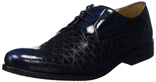Blue Blu 1 Erol Brush amp; Blue Lasercut Hamilton Diamond F Melvin Scarpe Modica Derby Uomo Stringate Blue xz7fAtqw