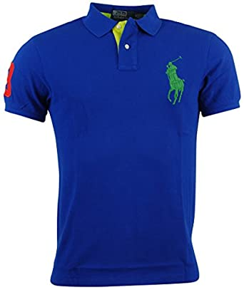 cfc007b57fce3 Polo Ralph Lauren Mens Custom Fit Big Pony Mesh Polo Shirt at Amazon Men s Clothing  store