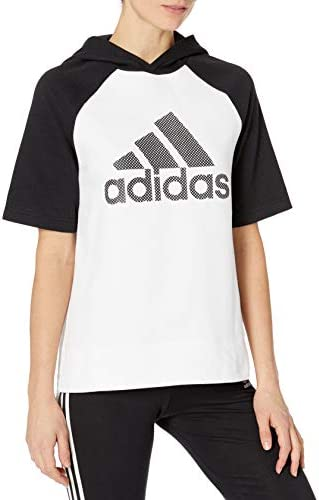 adidas Women's Athletics Fashion Full Zip Short Sleeve Hoody