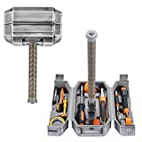 Buyton Avengers Thor Hammer Tool Set,28-Piece Household Hand Tool Kit -Thor Battle Hammer,Durable, Long Lasting Chrome Finish Tools with Thor Hammer case