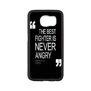 Black & White Quotes Samsung Galaxy S6 Cover Case, Cheap Samsung Galaxy S6 Case