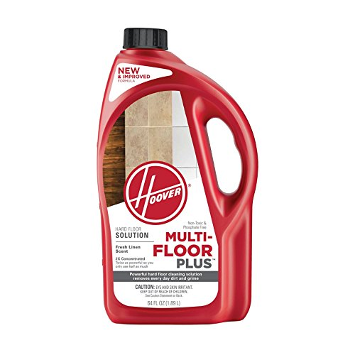 (Hoover Multi-Floor Plus Hard Floor Cleaner Solution Formula, 64 oz, AH30420NF, Red)