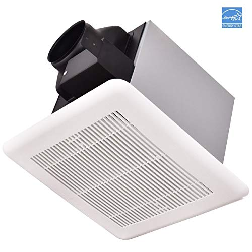 Costway Energy Star Ceiling Mounted Exhaust Fan for Home Bathroom Air Ventilation White (80 CFM)