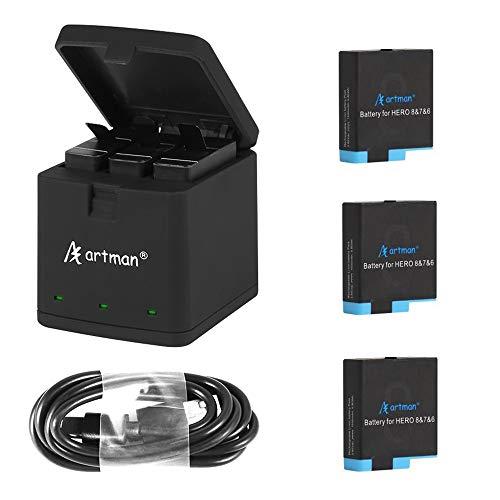 شارژر دوربین ورزشی Artman  و سه عدد باتری