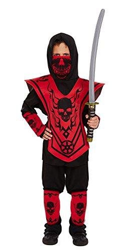 (Ninja Kids Fancy Dress Outfit - Ages 4-12 Years (Children: L))