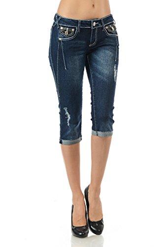 VIRGIN ONLY Womens Slim Fit Skinny Denim Capri Jeans