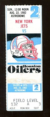 1982 Houston Oilers v New York Jets Ticket 8/22 Astrodome 43007