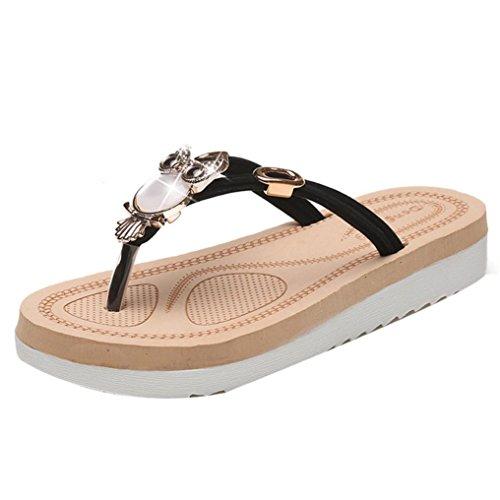 Baomabao Sandali Donna Sandali Pantofole Skid Spiaggia Nera