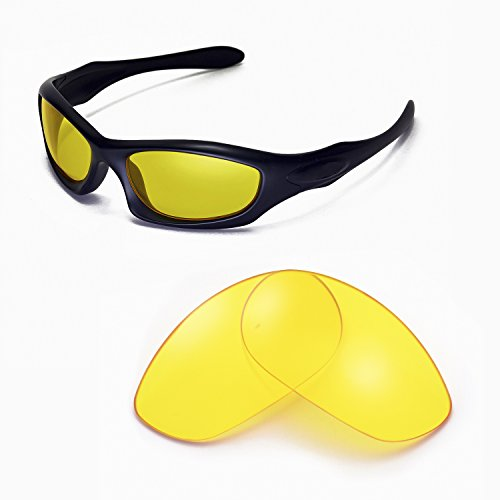 Walleva Replacement Lenses for Oakley Monster Dog Sunglasses -Multiple Options Available (Yellow)