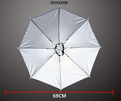 Chapeau parapluie avec serre-tête élastique pour la pêche, le jardinage, la marche, la photographie - 66cm de diamètre - Tiswell 2