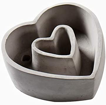 Nicole Cement Flowerpot Silicone Mold Heart Shape Concrete Planter Mould Handmade Craft Bonsai Tool