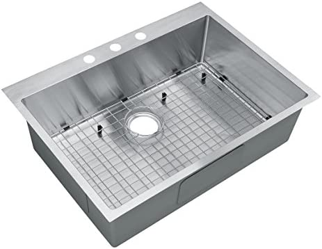 Starstar 30 Inch Top-mount Drop In Stainless Steel Single Bowl Kitchen Sink 16 Gauge with Accessories