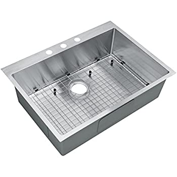 starstar 30 inch top mount   drop in stainless steel single bowl kitchen sink 16 starstar 30 x 22 top mount single bowl kitchen sink drop in 304      rh   amazon com