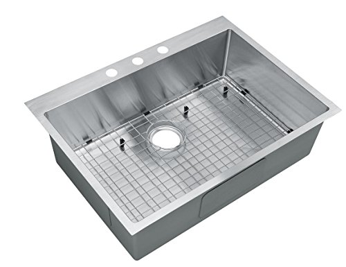Starstar 30 Inch Top-mount / Drop In Stainless Steel Single Bowl Kitchen Sink 16 Gauge with Accessories ()
