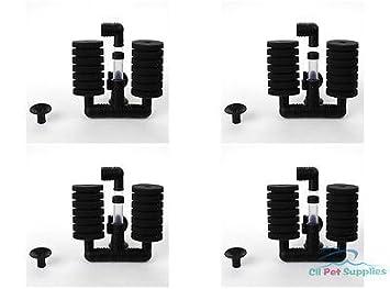 Genérico 4 filtros de Esponja Bio Betta Fry para Acuario, pecera, Doble Esponja (S) XY-2831: Amazon.es: Hogar