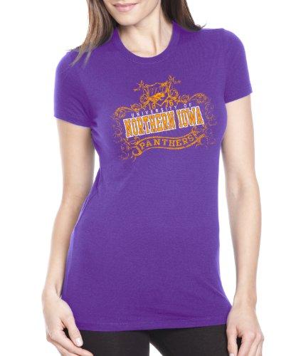 NCAA Northern Iowa Panthers Women's Prius2 Long Body Classic T-Shirt (Purple, Medium)