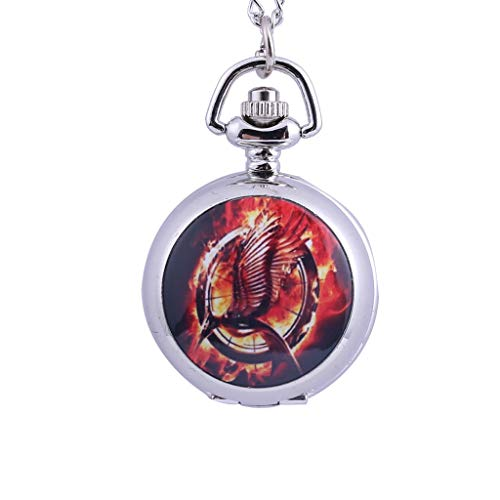 Orcbee  _Personality Quartz Pocket Watch Light Pendant Small Pocket Watch Gift for Birthday (G)