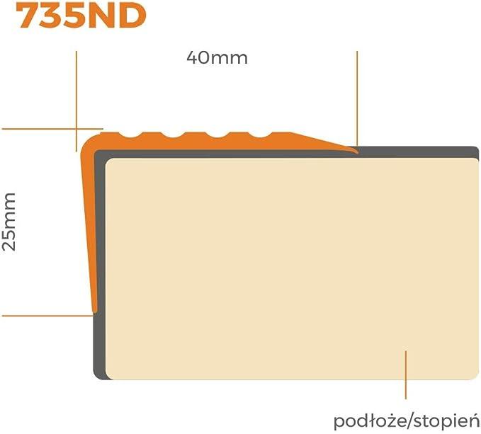 Silber PVC Treppenkantenprofil Selbstklebend Winkelprofil Anti-Rutsch Treppenkante 41x25mm 2m