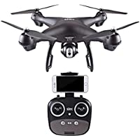 Aurorax RC Toy Drone,S70W 2.4GHz GPS FPV Drone Quadcopter with 1080P HD Camera 120° Wide-Angle Lens Wifi Headless Mode Gift For Kids Adults Friends Lover (Black)