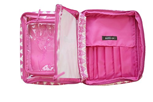 bareMinerals Cosmetic Organizer Makeup Bag With Grab-n- Go Pouch, Pink