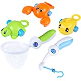 iPlay, iLearn Bath Hook Fish Toys, Kids Water Play Set, Swimming Animal Pool Set, Bathtub Fun Time Gift for Ages 6, 9, 12, 18 Months and 1, 2 Year Olds Baby, Boys, Girls, Toddler
