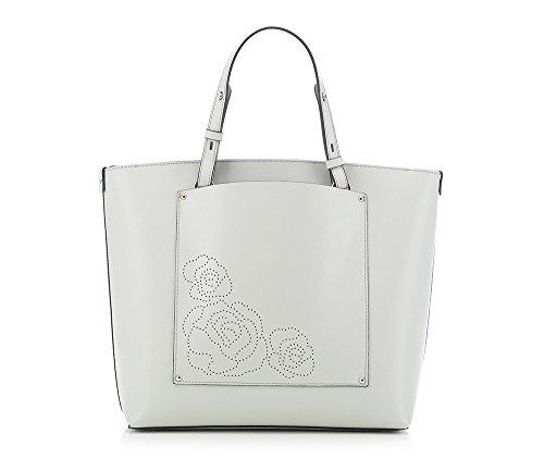 WITTCHEN Elegante Tasche | 32x32cm, Narbenleder | Passend für A4 Größe: Ja | Grau, Kollektion: Elegance | 84-4E-008-8