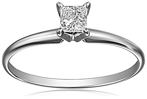 1/4 Ct Princess Solitaire Ring (14k White Gold Princess-Cut Solitaire Engagement Ring (1/4 carat, I-J Color, I1-I2 Clarity))