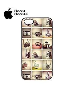 Retro Cameras Photography Mobile Cell Phone Case Cover iPhone 4&4s Black