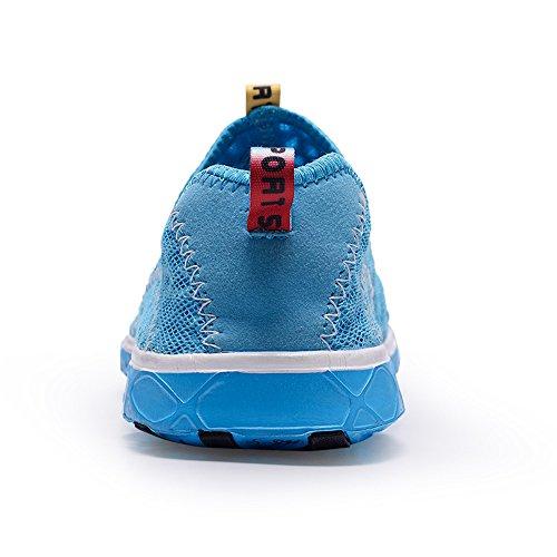 Fung-wong Hommes Femmes Mesh Chaussures Deau À Séchage Rapide Slip-on Aquad Sneakers Bleu Clair