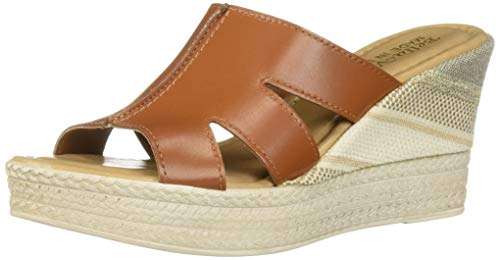 Bella Vita Women's Rox-Italy Slide Sandal Shoe, Whiskey Italian Leather, 7.5 M US